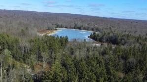 Hanby Lake is Frozen