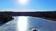 Sunshine on a Frozen Lake