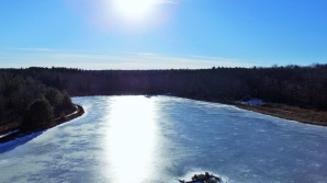 Sunshine on a Frozen Lake