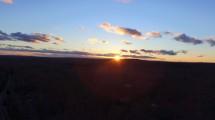 Distant Winter Sunset