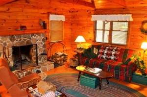 Cozy Cabin Living Room
